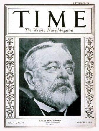 Lincoln on the cover to TIME magazine